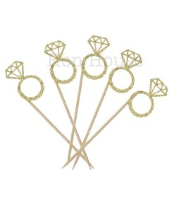 Diamond Ring Cupcake Toppers