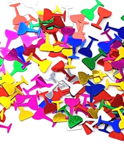 Colorful Wine Glass Shaped Confetti