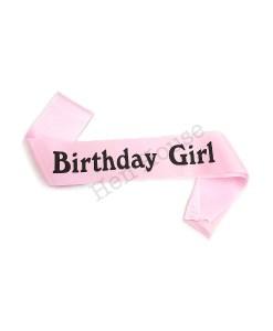 Pink Birthday Girl Sash