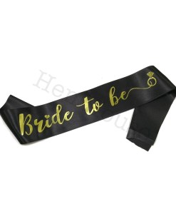 Gold on Black Bride to Be Sash