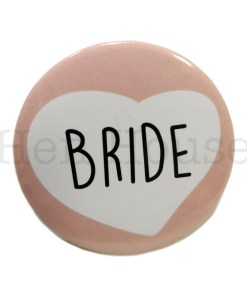 Bride Heart Badge