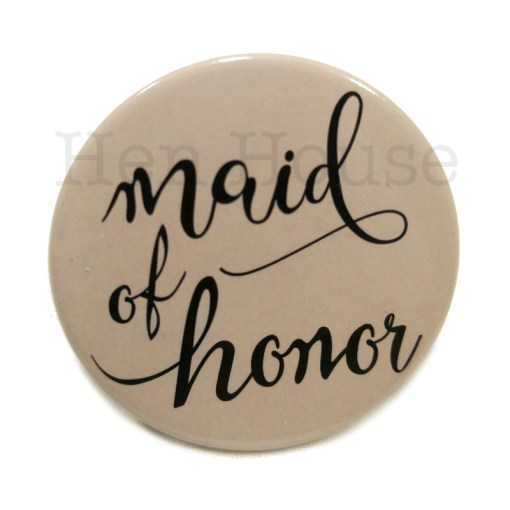 Maid of Honor Badge