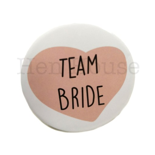 Team Bride Heart Badge