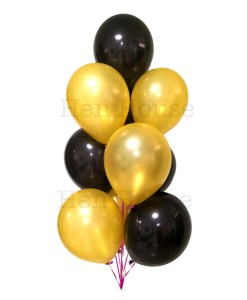 Gold & Black Balloon Bouquet