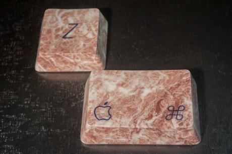 Marmo e resina epossidica (15x15x5 cm e 15x20x5 cm)