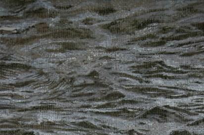 Olio su tela cerata (247x 137 cm)
