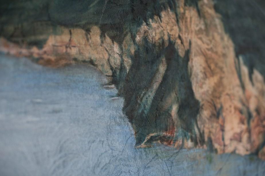 Olio su broccato (164x64 cm)