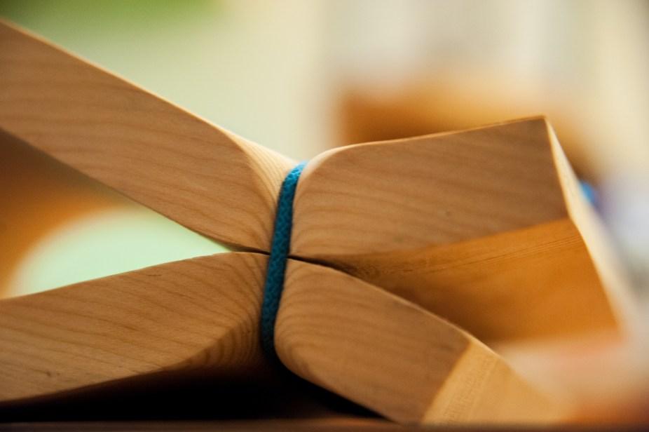 Legno di larice e corda (23x18x10 cm)