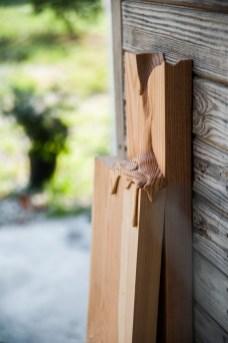 legno di larice 108 x 23 x 32 cm