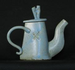 Tall Blue Teapot