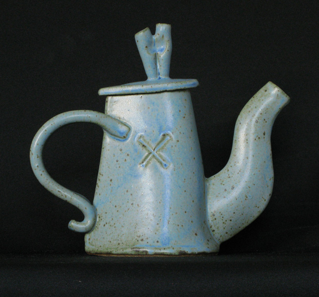 Tall Blue Teapot