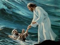 slide jezus redt petrus