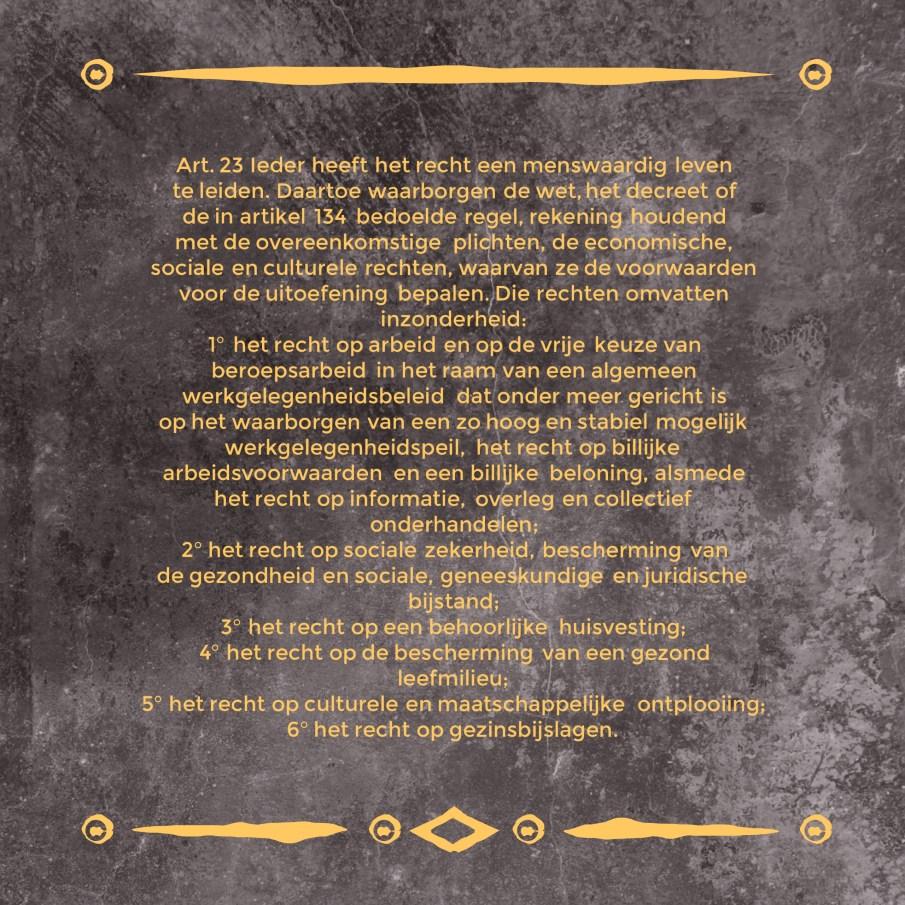 Art. 23 Grondwet