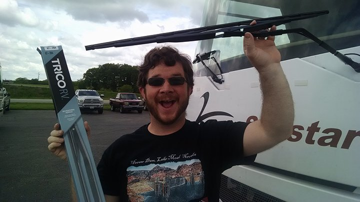 Never before has such happiness been declared for wiper blades.