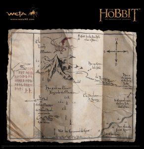 hobbitthorinsmappropalrg3 291x300 Распаковываем прелесть: Карта Торина от WETA