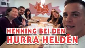 Henning Merten bei den Hurra Helden zu besuch