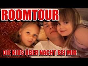 ROOMTOUR!! Die erste Nacht mit den Kids bei Papa