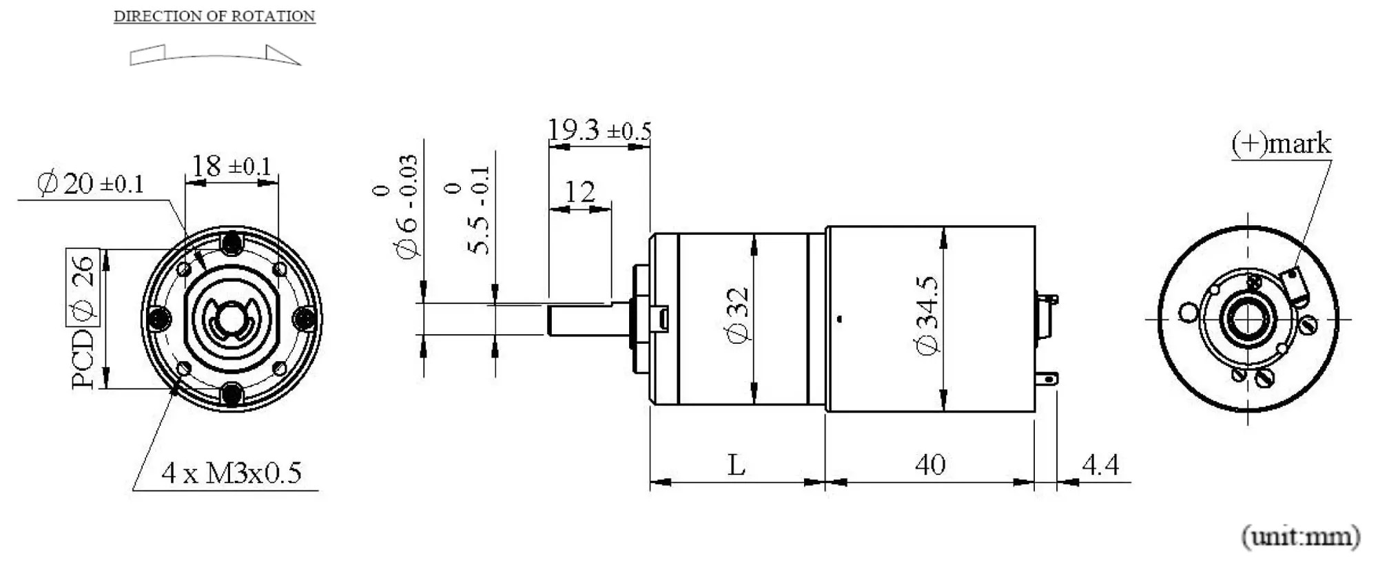 Dia 32mm Dc Brushed Motor With Reduction Gear Box Manufacturing