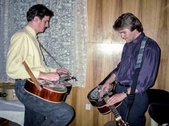 Jammin' backstage with Rob Ickes, Brno, CZ 1993