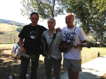 HN, Russ Barenberg, Martino Coppo - teachers of Minieracustica workshop 2012, Urbino, Italy