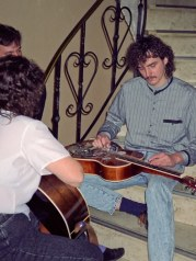 My first meeting with Scheerhorn guitar, with Sally Van Meter in Austria, 1994