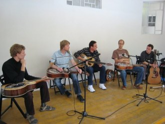 Dobro workshop at Banjo Jamboree, Čáslav 2011, CZ