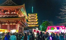 New Years in Japan with Kids Sensoji
