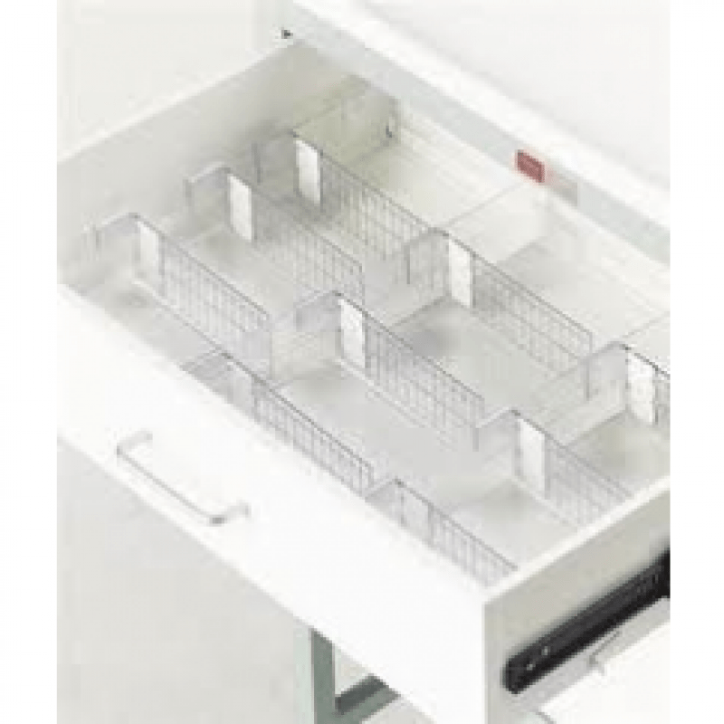 Draw Dividers For Flexi Cart Clear Plastic 1 Set 12