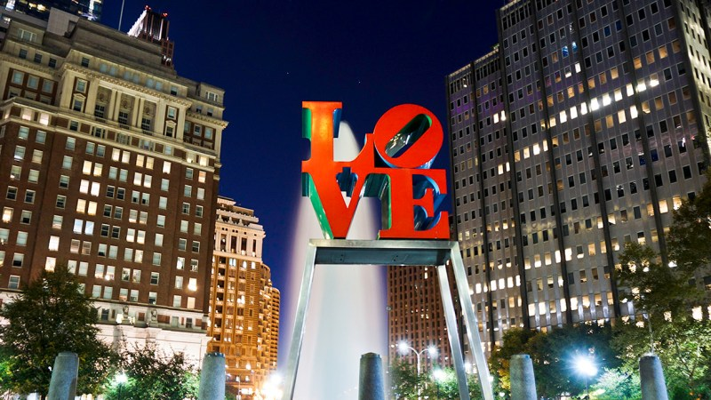 Love is in… JFK Plaza – Philadelphia