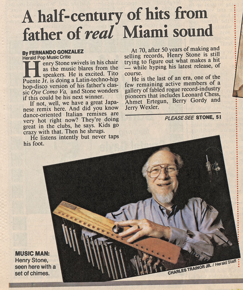 henry stone father of real miami sound says miami herald 1995 henrystonemusic. Black Bedroom Furniture Sets. Home Design Ideas