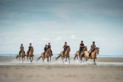 Galop sur la plage avec les chevaux Henson