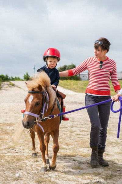 Pony ride in the Bay of Authie