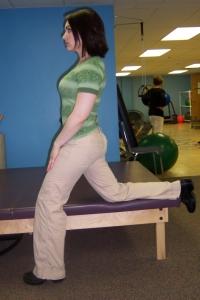hip flexor stretch standing