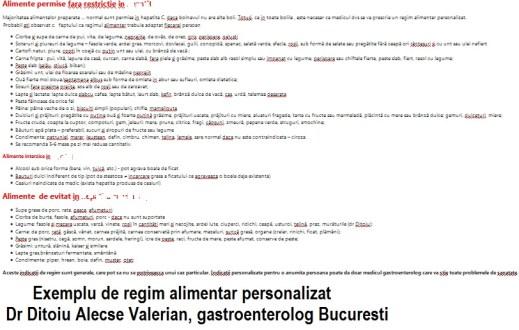 regim pentru fiere pdf