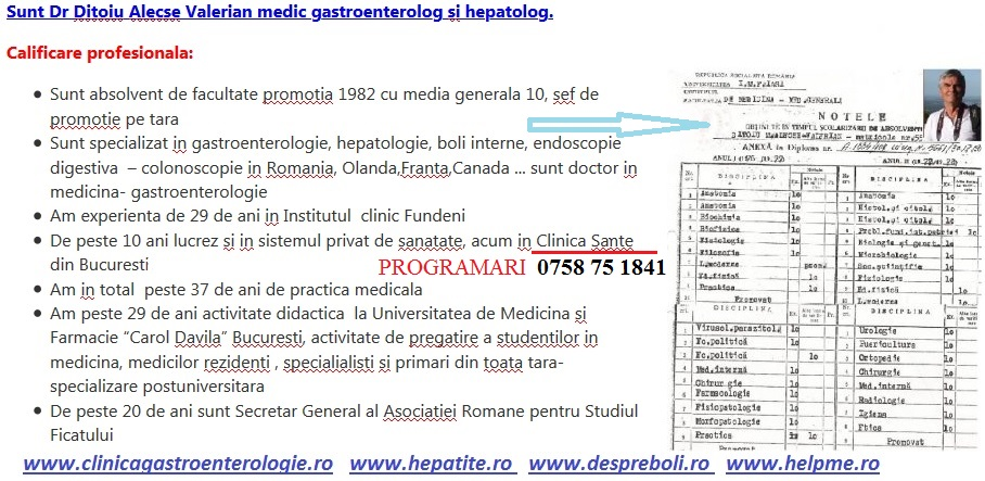 Dr gastroenterolog Bucuresti FUndeni