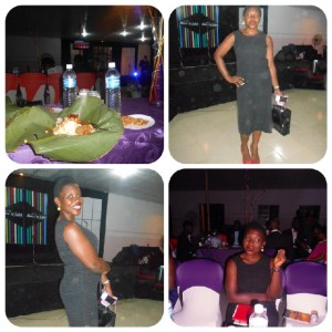 From top to bottom, Ofada rice, me, dressed up and all.lol