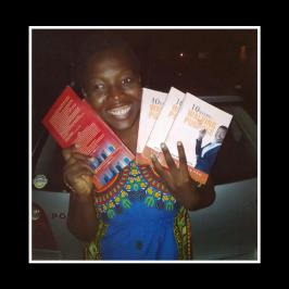 the first time I held my books!