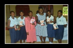 With teachers and students from christ girls school