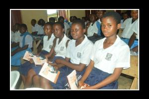 Students from christ girls school with their books