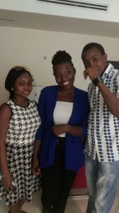 Me, Aramide and Noel who's also a writer..