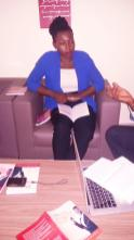 """Me during """"share your story"""" discussion on purpose"""