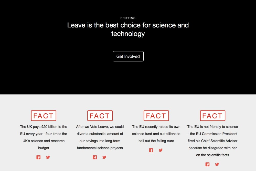 How Vote Leave campaigned on science