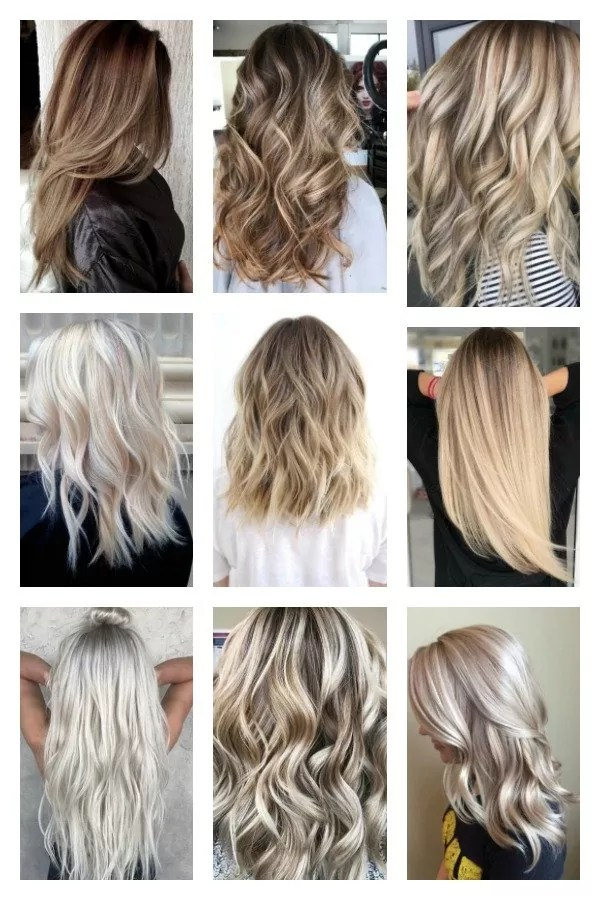 Ranking of colours of the hair in terms of maintenance difficulty from the least to the most difficult