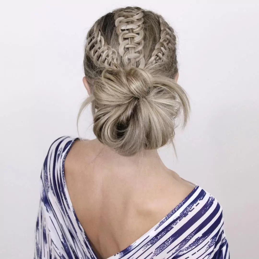 Bun Hairstyle for Wide Shoulders