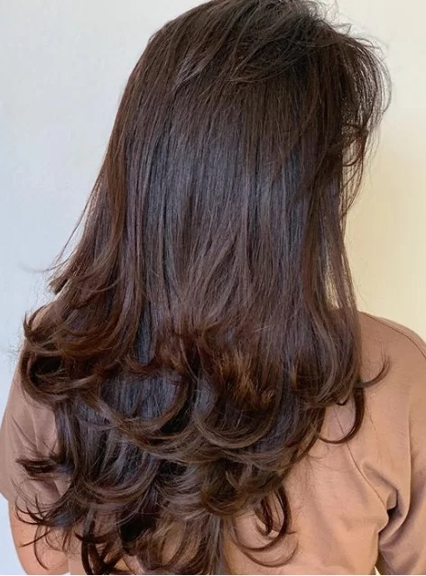 Double-Tiers Layered Hair for Thicker Hair