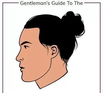 Man Bun Hairstyle mens haircut