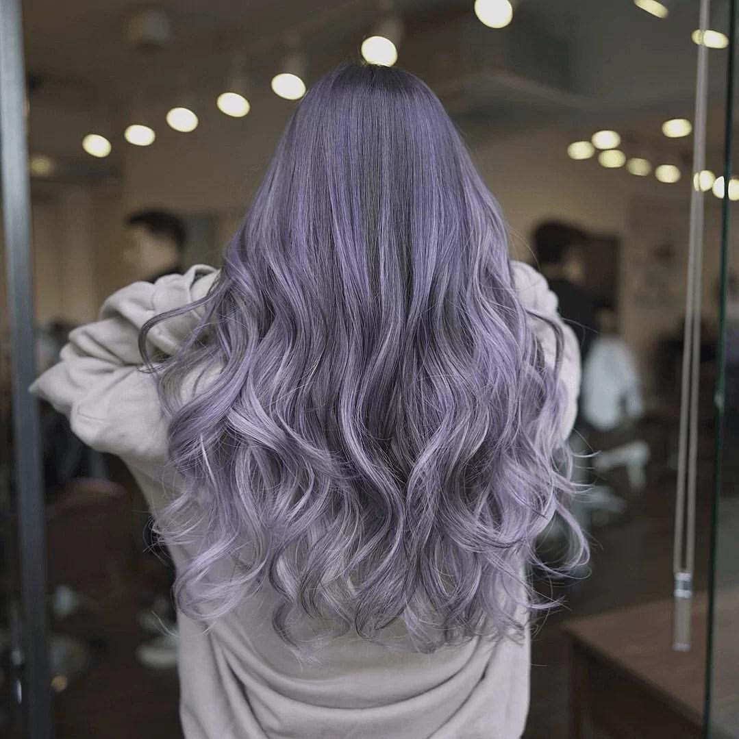 ash purple hair