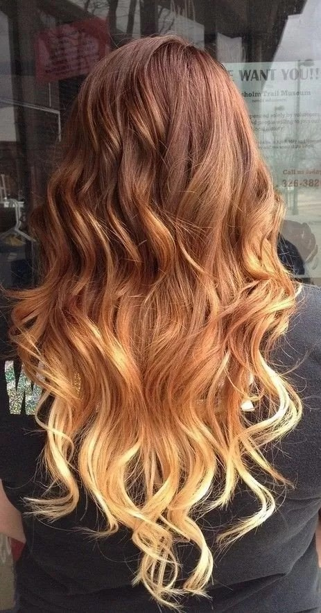 Red To Blonde Ombre Hair