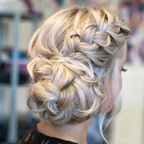 French Braid Hairstyles with Large Side Buns