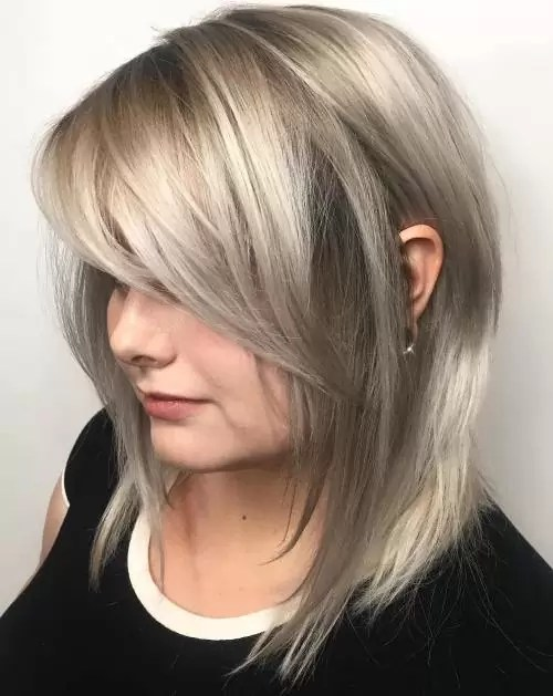 Image result for Layered Bob Hairstyles Using Feathered Side-bang